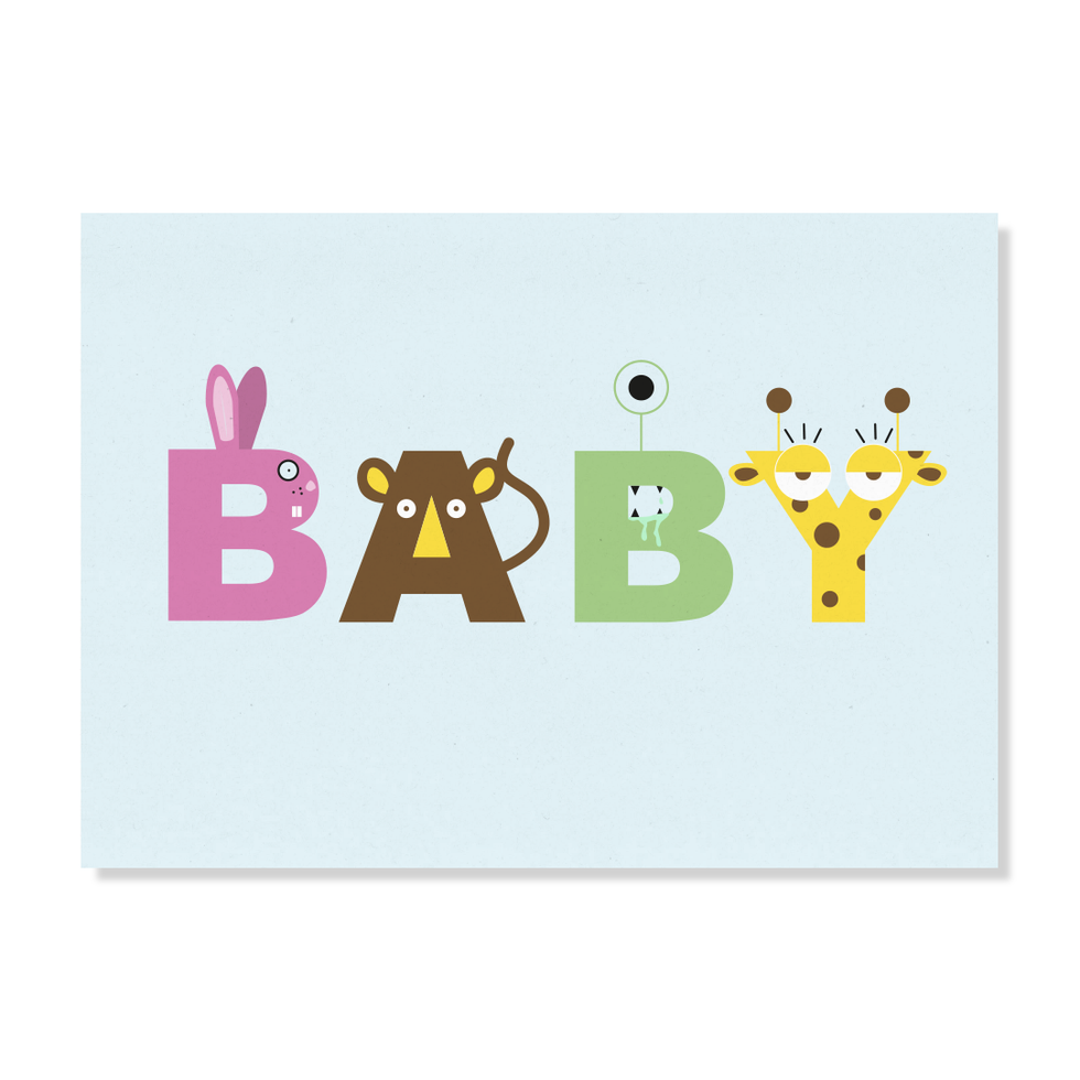 "Postkarte ""BABY"""