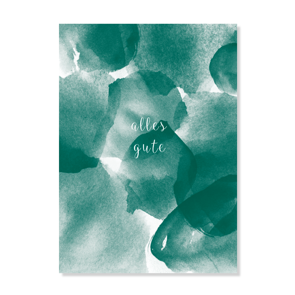 "Postkarte ""Alles Gute"""