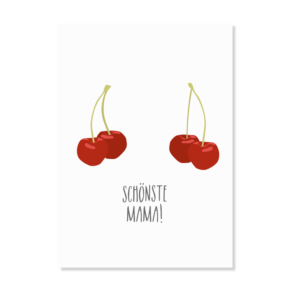 "Postkarte ""Schönste Mama"""