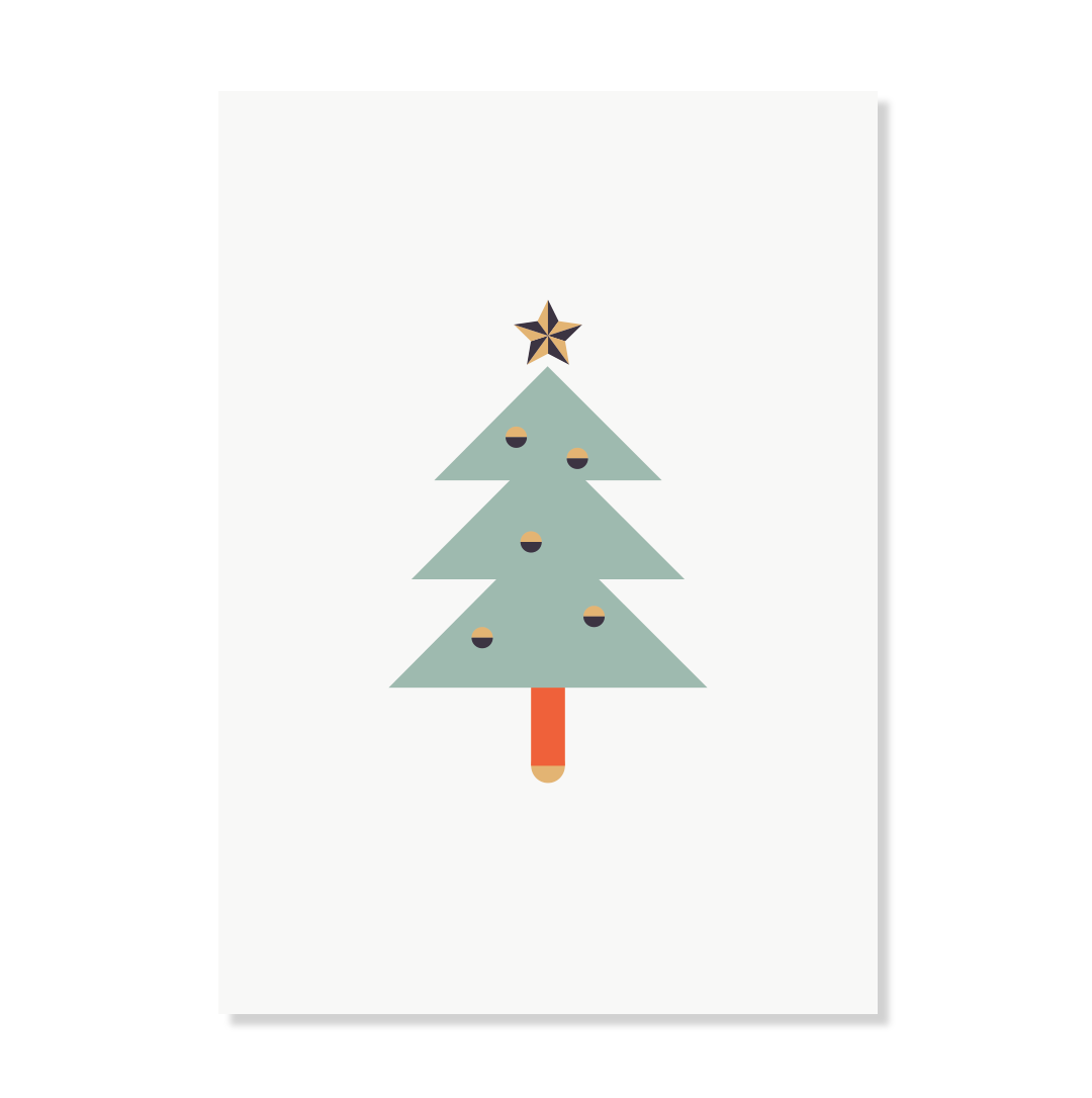 """Postkarte """"Weihnachtstanne"""""""