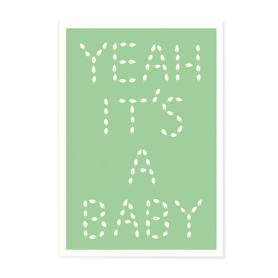 "Postkarte ""Yeah it`s a baby"""
