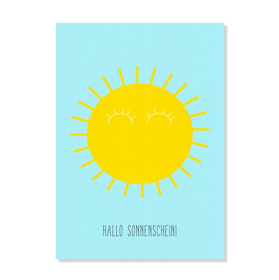 """Postkarte """"Hallo Sonnenschein"""""""