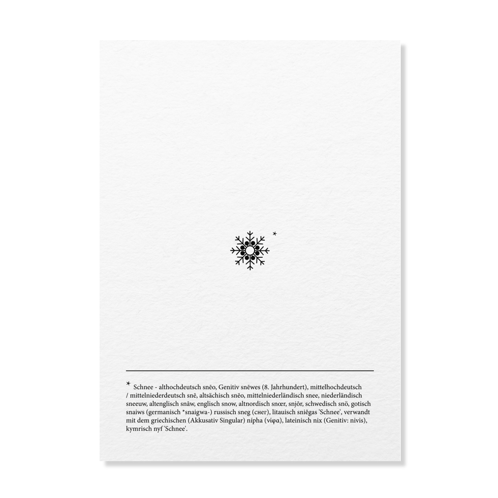"Postkarte ""Schneeflocke"""