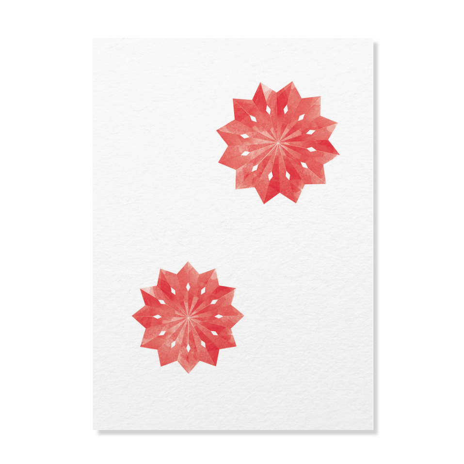 """Postkarte """"Weihnachtsstern"""""""