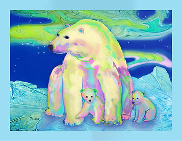 Polar Bear Aurora