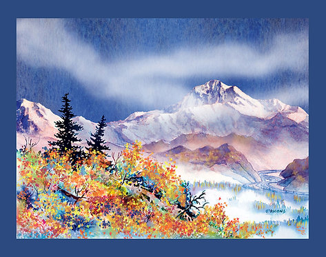 """Denali Autumn"" Fabric Art Panel"