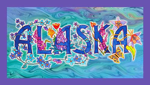 """AK in Bloom"" Fabric Art Panel"