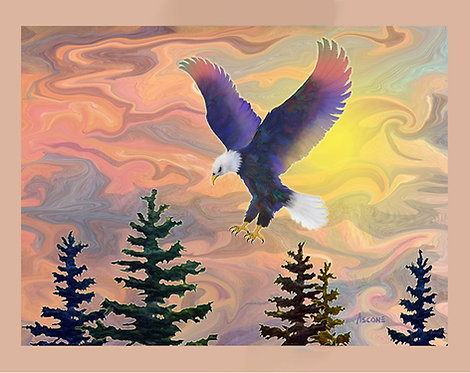 """""""Eagle's Roost"""" Fabric Art Panel"""