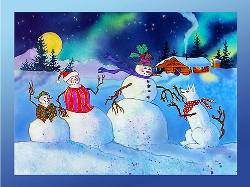 """""""Home for the Holidays"""" Fabric Art Panel"""