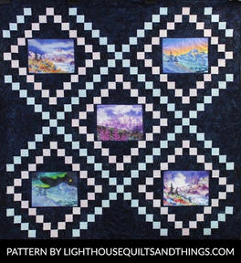 Quilt made with Teresa Ascone Art Panels