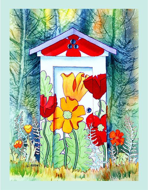 """Poppy Potty"" Fabric Art Panel"