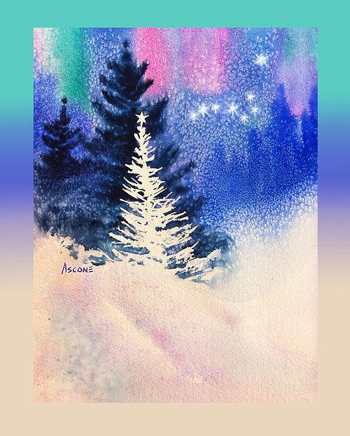 """O Holy Night"" Fabric Panel Art"