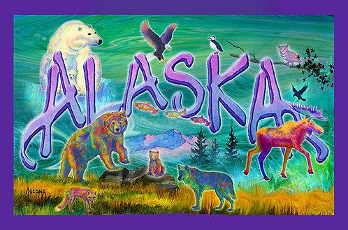 """Wild Alaska Main Panel"" Fabric Art Panel"