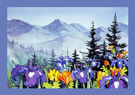 """Chugach Summer"" Fabric Art Panel"