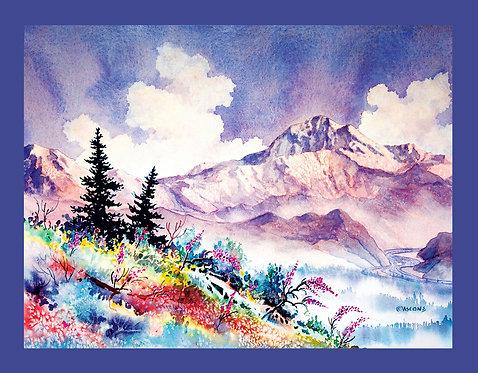 """""""Denali Summer"""" Fabric Art Panel"""