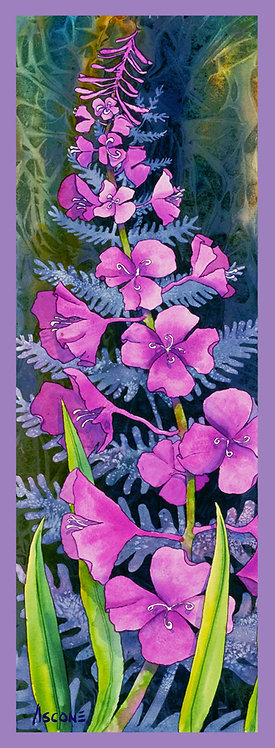 """""""Fireweed Solitaire"""" Fabric Art Panel"""