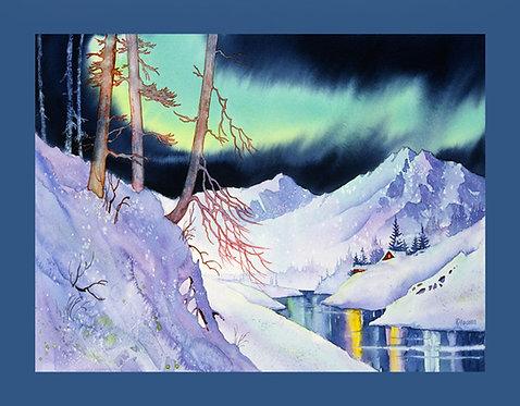 """Ski Trail"" Fabric Art Panel"