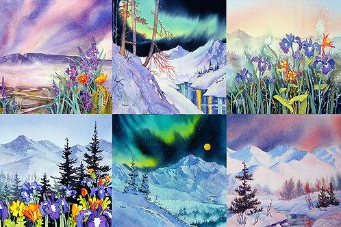 """""""Alaska Mountains"""" Mug Rug Set"""
