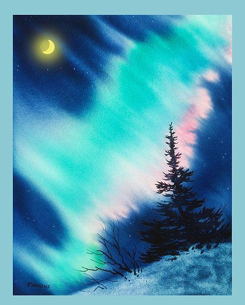 """Light in the Dark of Night"" Fabric Art Panel"