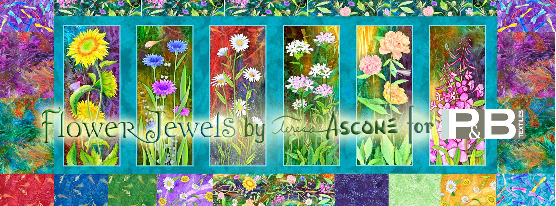 Flower Jewels Fabric
