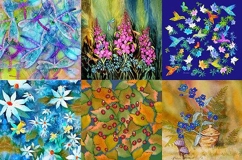 """""""Wings & Blooms"""" Mug Rug Set"""
