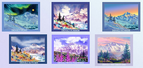 """The Denali Collection"" Fabric Art Panel Set"