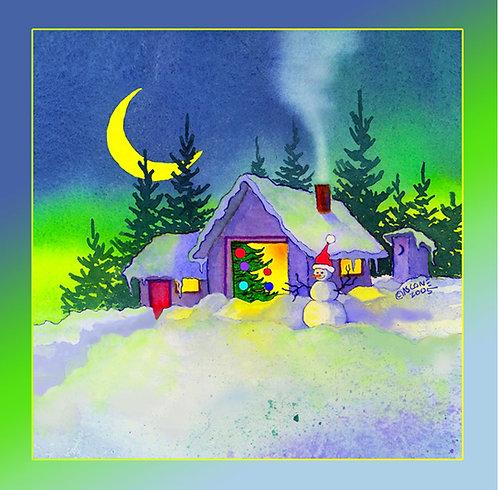 """Holiday Hello"" Fabric Art Panel"