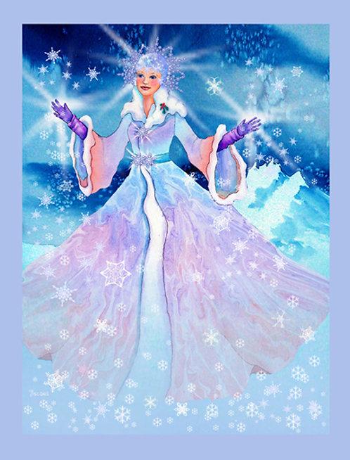 """""""Snow Queen"""" Fabric Art Panel"""