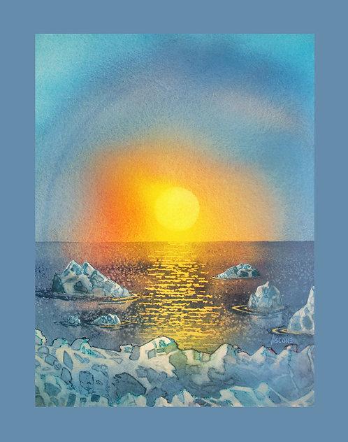 """Arctic Ice"" Fabric Art Panel"