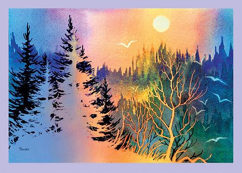 """Forest Fantasy"" Fabric Art Panel"