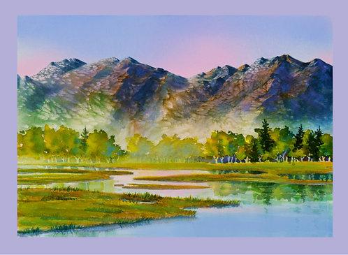 """Potter Marsh"" Fabric Art Panel"
