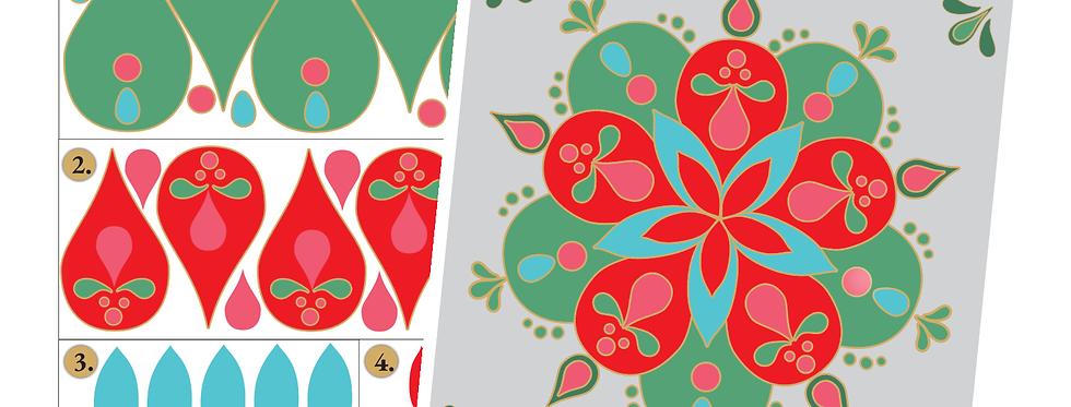 Papierset Design II Hygge Mandala