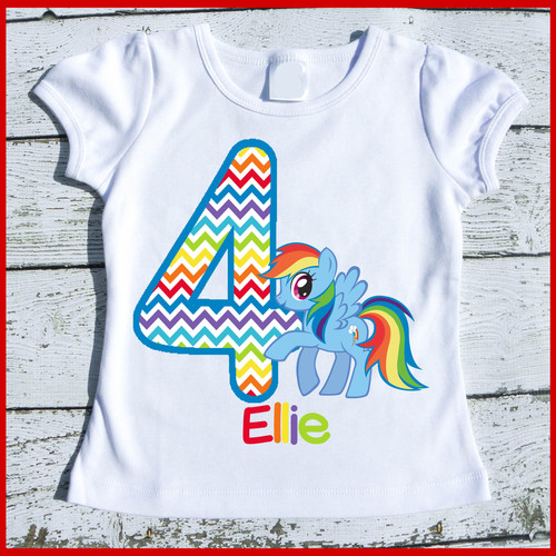 Rainbow Dash Pony Birthday Tee Shirt