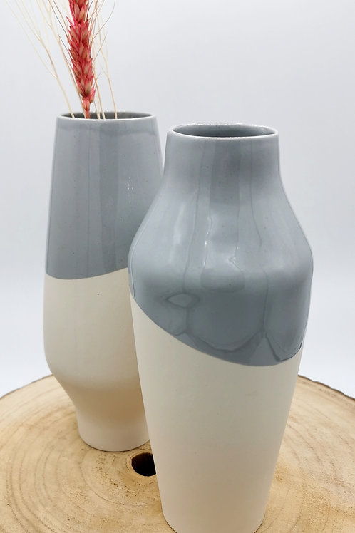 Large Dipped Grey Vessels