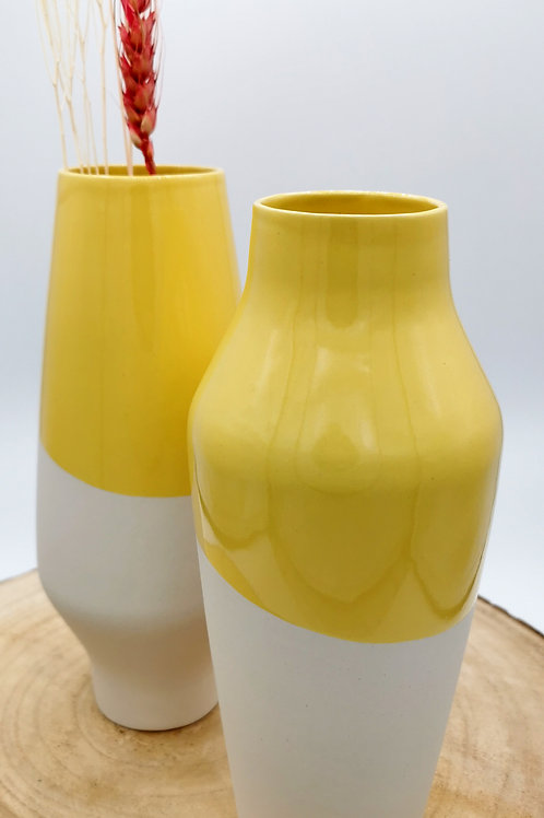 Large Dipped Yellow Vessels