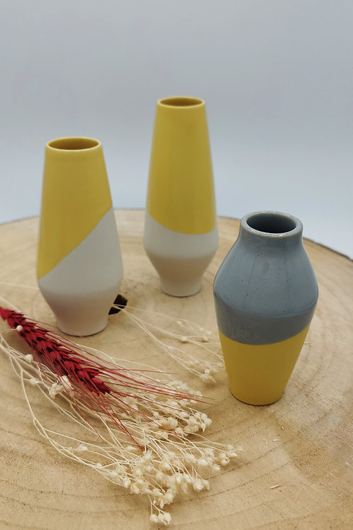 Yellow dipped Vessels