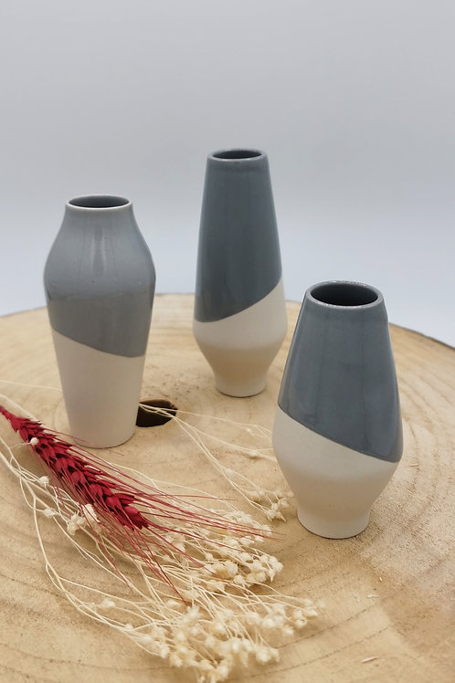 Grey dipped White Vessels