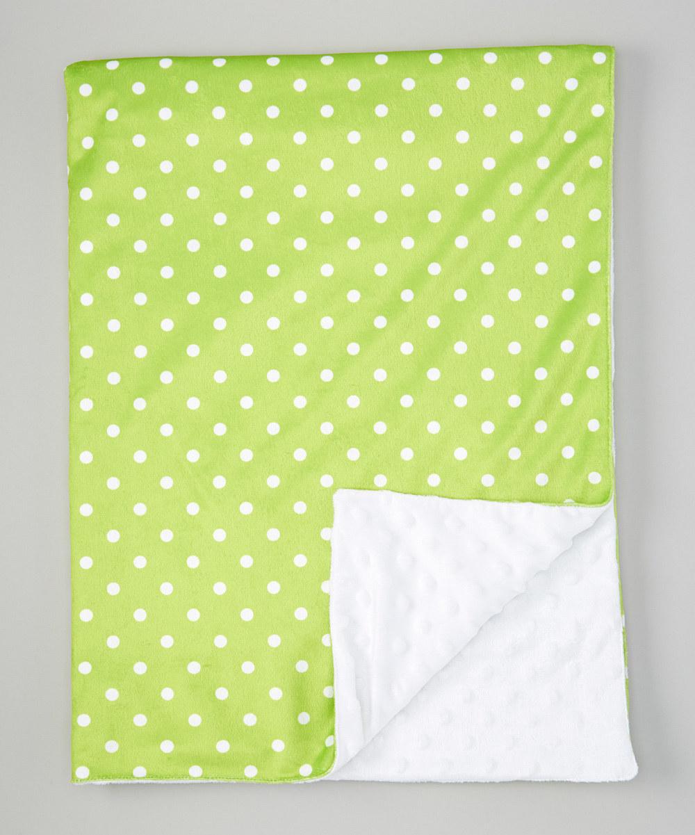 green dot minky blanket