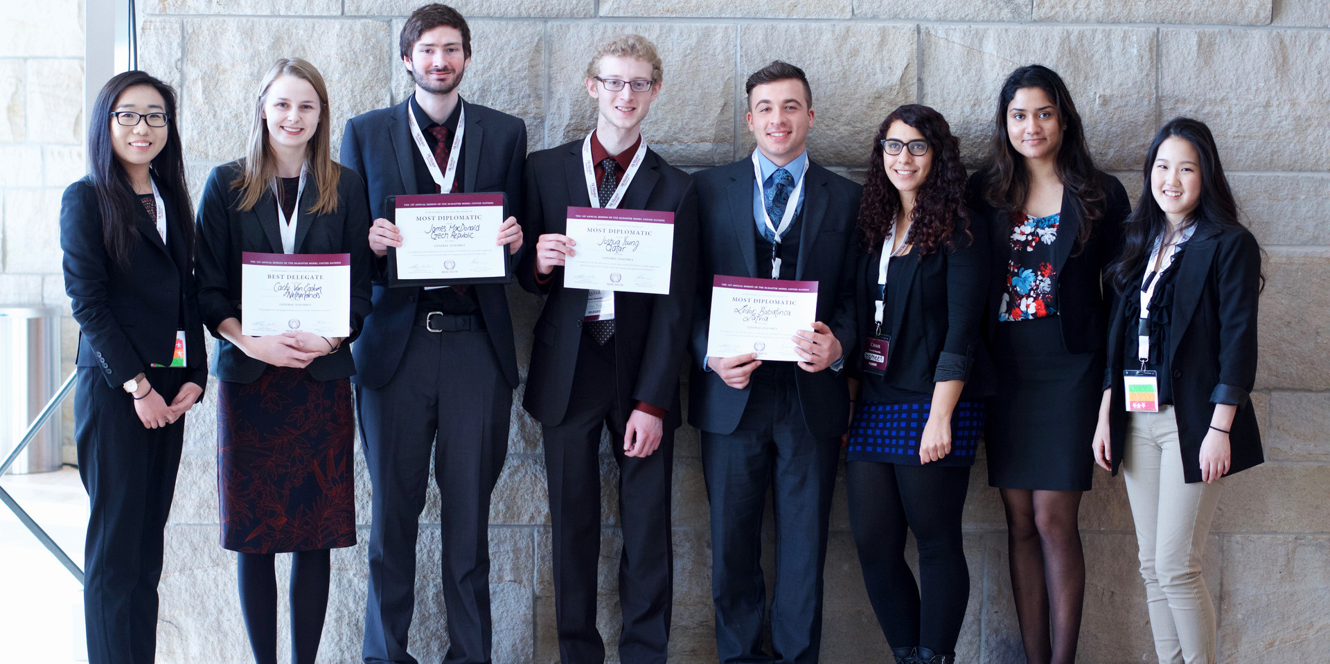 The award winners of the General Assembly at MACMUN 2016