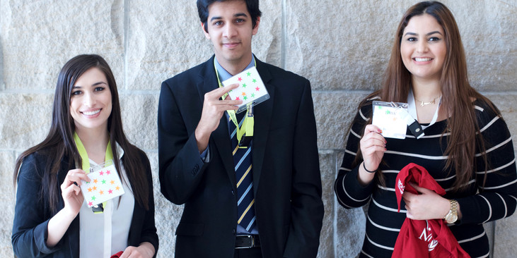 The winners of the sticker contest at MACMUN 2016