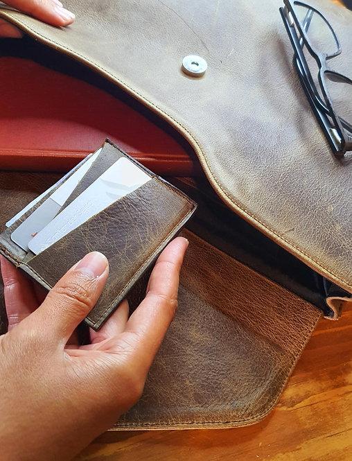 Card Holder Vintage Brown