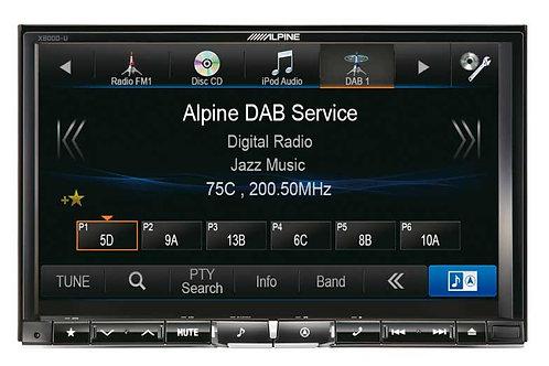 Alpine X800D-U Front DAB