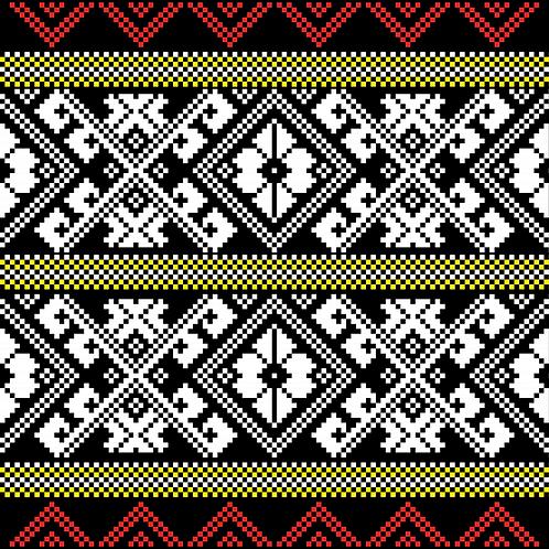 Hoa văn pixel K'HO 001