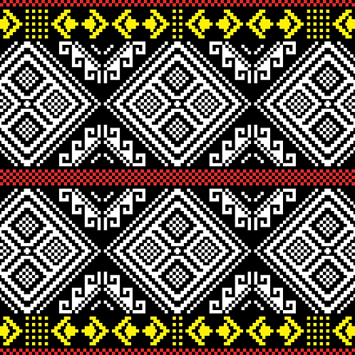Hoa văn pixel K'HO 004