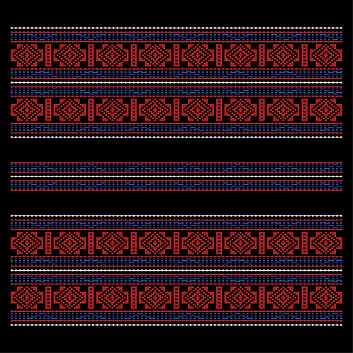 Hoa văn vector K'HO 013