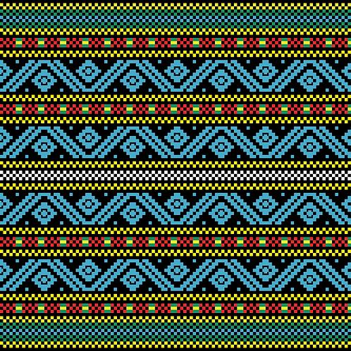 Hoa văn pixel MẠ 008