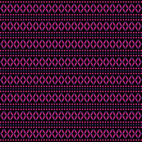 Hoa văn pixel MẠ 040