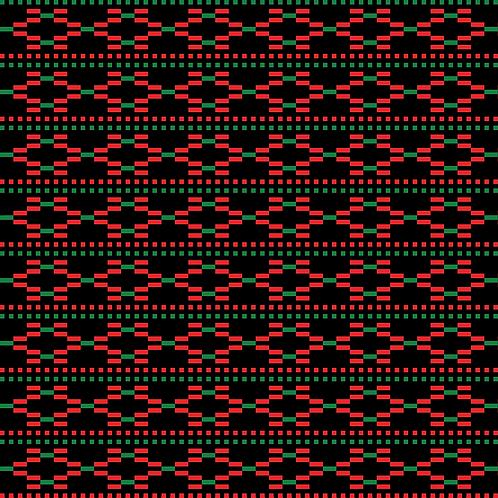 Hoa văn pixel MẠ 024