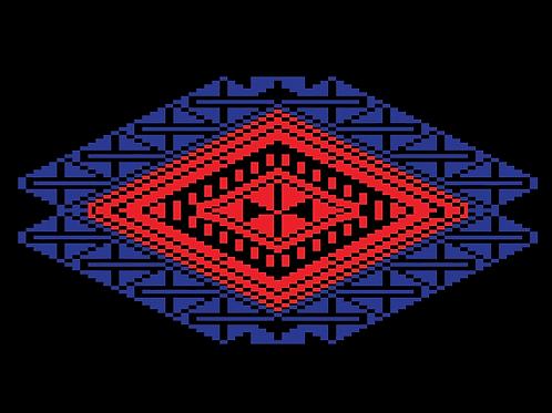 Hoa văn pixel MẠ 019