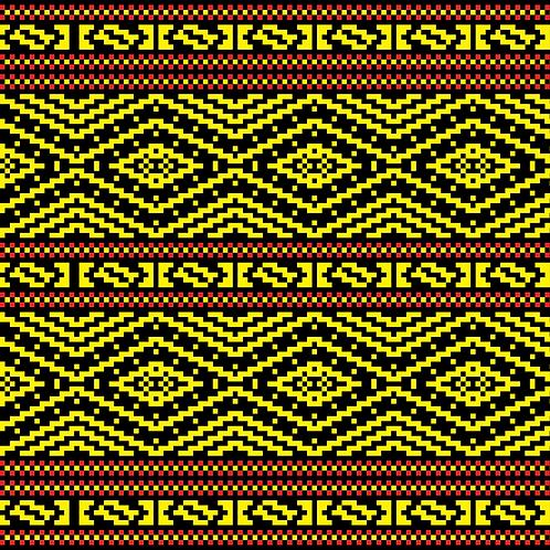Hoa văn pixel K'HO 002